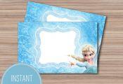 Frozen Printable Food Tents - Frozen Birthday Party - Frozen Party - Frozen Part...