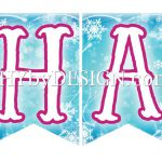 Frozen Printable Happy Birthday Banner available to download at SHYbyDESIGN.com