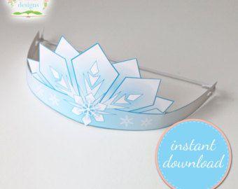 Frozen-Printable-Ice-Crown-Frozen-Inspired-design-INSTANT-DOWNLOAD-Frozen-Party Frozen Printable Ice Crown Frozen Inspired design INSTANT DOWNLOAD Frozen Party Cartoon