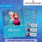Frozen Printable Invitation Kit, Frozen Birthday Invitation, Disney Princess Inv...