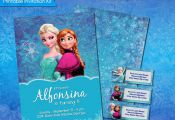 Frozen Printable Invitation Kit, Frozen Birthday Invitation, Disney Princess Inv...