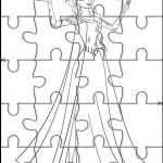 Frozen Printable Jigsaw Puzzles to cut out for kids 50