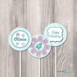Frozen Printable Party Circles  Frozen DIY by StyleswithCharm