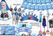 Frozen Printable Party Package - Frozen Printable kit, PRINTABLE Frozen, Downloa...
