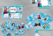 Frozen Printable Party Package Including Invitation Print Yourself, Frozen Birth...