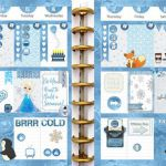 Frozen Printable Planner Kit 5 PDFs, Over 300 Stickers EC or Happy Planner, Blue...