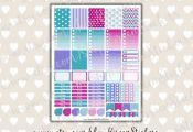 Frozen Printable Planner Stickers Erin Condren by EireenStickers