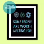 "Frozen Printable Quote Instant Download, 2 Colors, 8""x10"", Frozen Art Poster/Art..."