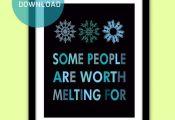 "Frozen Printable Quote Instant Download, 2 Colors, 8""x10"", Frozen Art Poster/Art..."