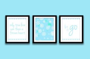 "Frozen Printable Quotes Instant Download Set of 3, 8"" x 10"", Let It Go, Only Tru..."