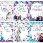 Frozen Printable Valentine's Day Cards Digital File by PBJnCompany