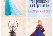 Frozen Printable Wall Art Decor. Great for Birthday party or nursery decor. Free...