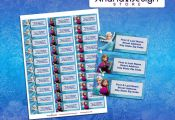 Frozen Printable and Personalized Address Labels. Frozen Printable Party Kit  / ...