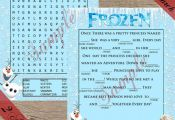 Frozen Printable games! Word Search and Ad libs! Digital download! Frozen Party ...