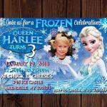 Frozen Printable invite. Frozen birthday. Frozen Invitation. Queen Elsa birthday...