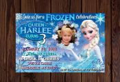 Frozen Printable invite. Frozen birthday. Frozen Invitation. Queen Elsa birthday...