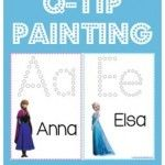 Frozen-Printables-Q-Tip-Painting Frozen Printables ~ Q-Tip Painting Cartoon