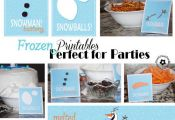Frozen Printables for Olaf Snowman Snacks and Melted Snowman Water Bottles {OneC...