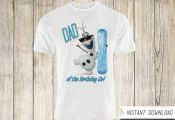 Frozen Shirt Transfer Iron On-Disney Frozen Printable Shirt-Frozen Birthday Part...