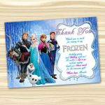 Frozen Thank You Card. Frozen Thanks. Frozen Printable. Diy Frozen Birthday Part...