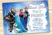 Frozen Thank You Card. Frozen Thanks. Frozen Printable. Diy Frozen Birthday Part...