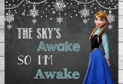 Frozen The Sky's Awake So I'm Awake Sign Chalkboard Anna // Frozen Printable Wal...