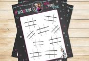 Frozen Tic Tac Toe Activity Sheet Chalkboard by ApothecaryTables