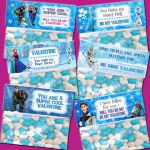 Frozen Valentine's Day Treat Bag Topper  - INSTANT DOWNLOAD /  6 Styles of  ...
