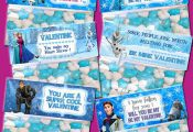 Frozen Valentine's Day Treat Bag Topper - INSTANT DOWNLOAD / 6 Styles of Pri...