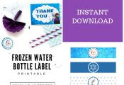 Frozen Water Bottle Label/Frozen Water Bottle Wrap/Frozen Water Bottle Drink Wra...