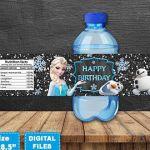 Frozen Water Bottle Labels, Frozen Bottle Wrap, Frozen Birthday Party, Frozen Pr...