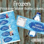 Frozen Water Bottle Labels, Frozen Printable Water Labels, Frozen Party Favors, ...