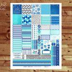 Frozen Weekly Printable Planner Stickers, Frozen Printable Planner, EC Horizonta...
