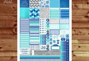 Frozen Weekly Printable Planner Stickers, Frozen Printable Planner, EC Horizonta...