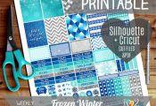 Frozen Weekly Printable Planner Stickers, Frozen Printable Planner, Erin Condren...