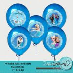 """Frozen Winds Inspired  Printable Balloon Stickers / Plates / Party Circles 7"""" - ..."""