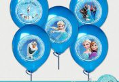 "Frozen Winds Inspired  Printable Balloon Stickers / Plates / Party Circles 7"" - ..."