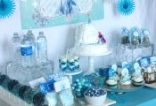 Frozen birthday party decorations and food ideas + free pritnables