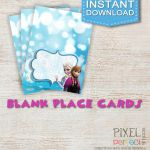 Frozen blank place cards or food tents. Frozen Birthday Invitations, Thank You C...