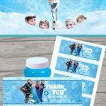 Frozen bubbles wrap/label for Frozen theme party {free}