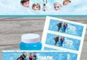 Frozen bubbles wrap/label for Frozen theme party {free}