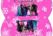 Frozen in Pink Free Printable Boxes.