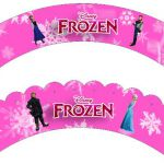 Frozen in Pink:Free Printable Cupcake Wrappers.Gratis.