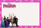 Frozen in Pink:Free Printable Invitations, Cards or Photo Frames.