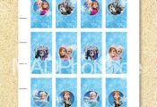 Frozen mini candy bar wrappers Instant download Frozen