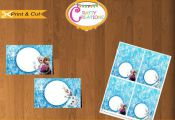 Frozen printable food tent Frozen Food Tents by CraftyCreationsUAE, $3.50  Craft...