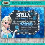 Frozen printable personalized invitation frozen by SweetCardsStore