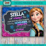 Frozen printable personalized invitation, frozen digital invite, frozen party, f...