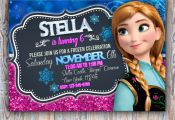 Frozen printable personalized invitation, frozen digital invite, frozen party, f...