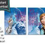 Frozen printables set of 2 8x10 printables  DIY  by CupcakeTops, $5.00